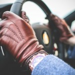 Driving in Leather Driving Gloves